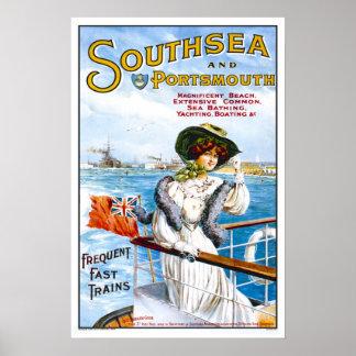 Vintage resor Southsea Poster