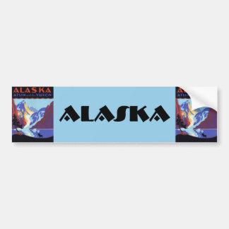 Vintage resoraffisch, Atlin och Yukon, Alaska Bildekal