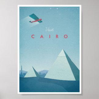Vintage resoraffisch Cairo Poster