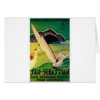 Vintage resoraffisch Donostia San Sebastian Hälsningskort
