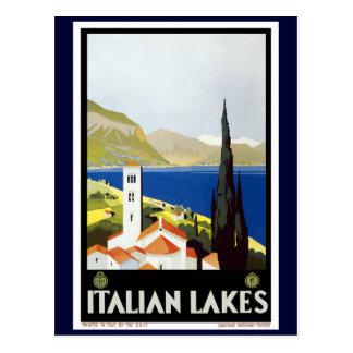 """Vintage resoraffisch """"för italiensk sjöar"""" vykort"""