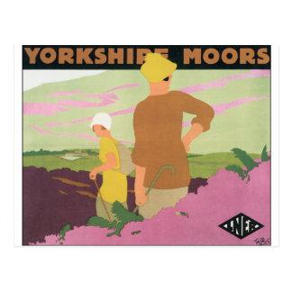 Vintage resoraffisch för Yorkshire heder Vykort