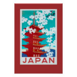 Vintage resoraffisch Japan Poster