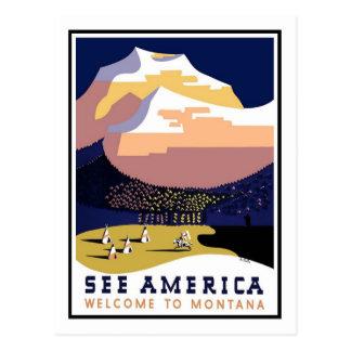 Vintage resoraffisch, Montana Vykort