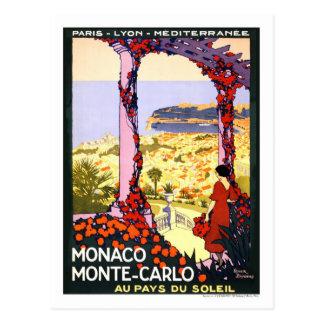 Vintage resoraffisch, Monte - carlo Vykort
