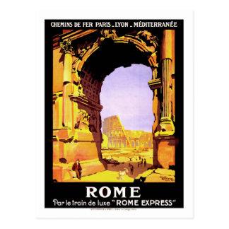 Vintage resoraffisch, Rome Vykort