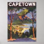 Vintage resoraffisch, uddTown, Sydafrika Affisch