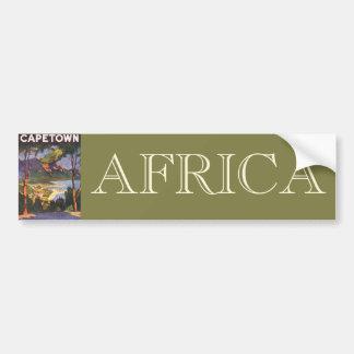 Vintage resoraffisch, uddTown, Sydafrika Bildekal