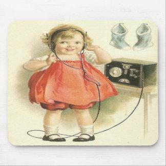 Vintage ringaflickan Mousepad Musmatta