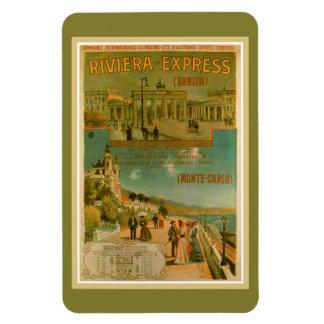 Vintage Riviera uttryckliga Berlin Amsterdam Nice Rektangulär Magnet
