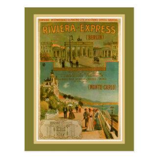 Vintage Riviera uttryckliga Berlin Amsterdam Nice Vykort