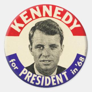 Vintage Robert Kennedy för president klämmer fast Runt Klistermärke