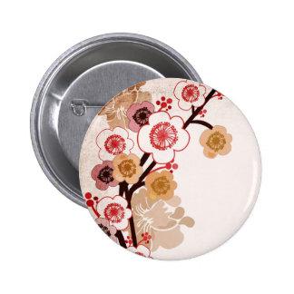 Vintage sakura knäppas standard knapp rund 5.7 cm