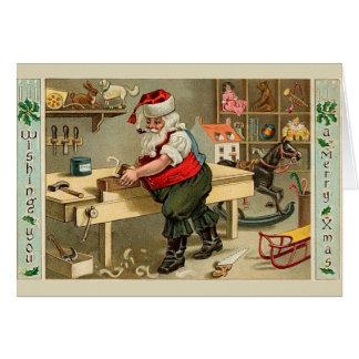 Vintage Santa Hälsningskort