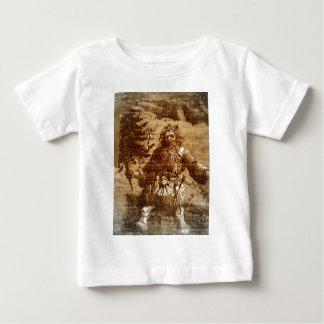 Vintage Santa i kolonial stil Toile för Sepia T-shirt