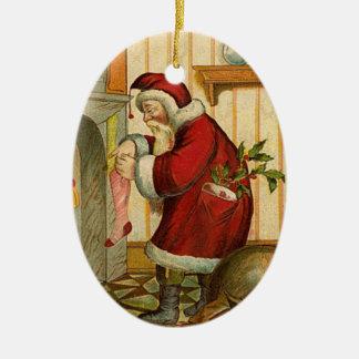 Vintage Santa Julgransdekorationer