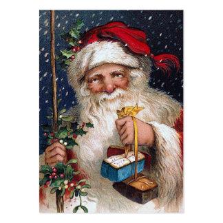 Vintage Santa med tårtor Visitkort