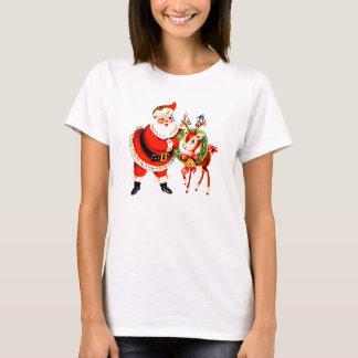 Vintage Santa och ren T Shirts