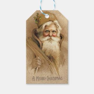 Vintage Santa Presentetikett