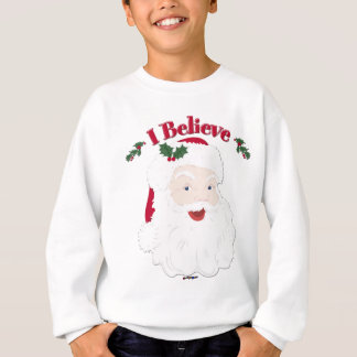 Vintage Santa tror jag jul Tröjor
