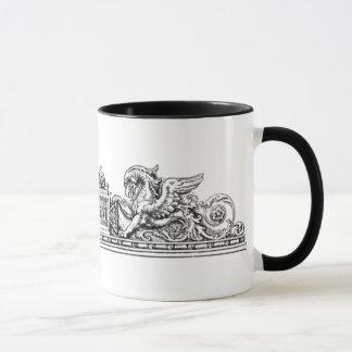Vintage - seahorse- och gripgradbeteckning mugg