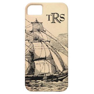 Vintage seglar frakten som är monogrammed iPhone 5 Case-Mate skal