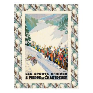 Vintage skidar   frankriken, St Pierre de Vykort