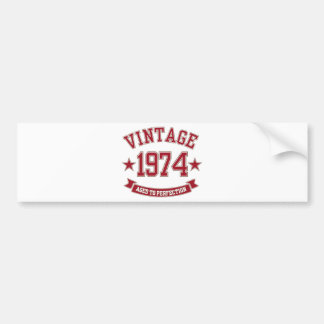 Vintage som åldras till perfektion 1974 bildekal