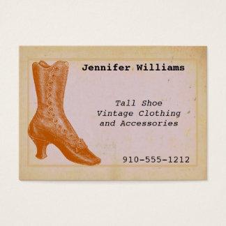 Vintage som beklär sparsamhetavsändningvisitkorten visitkort