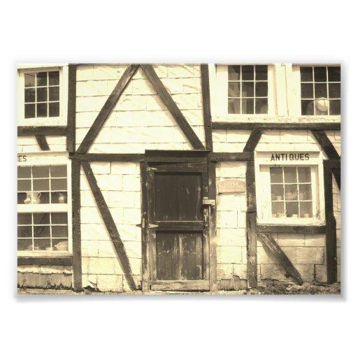 Vintage som bygger fotografiskt tryck 7 x 5