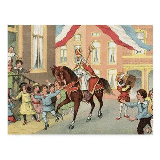 Vintage St Nicholas för Sinterklaas holländareSt. Vykort