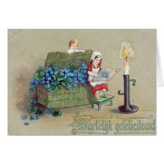 Vintage St Patrick Hälsningskort