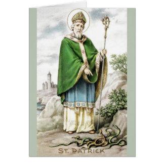 Vintage St Patrick och ormhälsningkort Hälsningskort