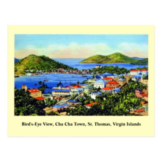 Vintage St Thomas Virgin Islands Vykort