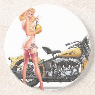 Vintage stygga Sexie klämmer fast upp flicka Underlägg Sandsten
