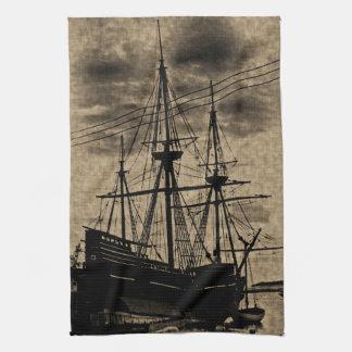 Vintage tonade fastställda Mayflower Kökshandduk