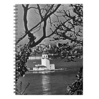 Vintage Turkiet Istanbul beskådar av staden 1970 Spiral Anteckningsböcker