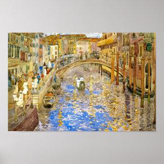 Vintage Venedig storslagen kanal för italien vid Affischer