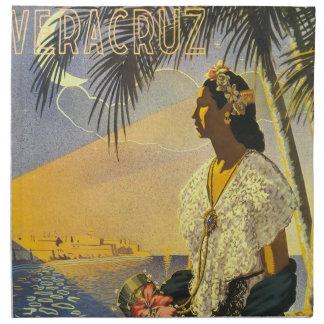 Vintage Veracruz Mexico reser affischen Tygservett