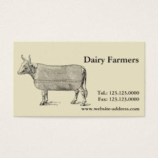 Vintage visitkortarna för kovälfärdsfilt visitkort