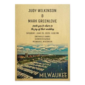 Vintage Wisconsin för Milwaukee bröllopinbjudan 12,7 X 17,8 Cm Inbjudningskort