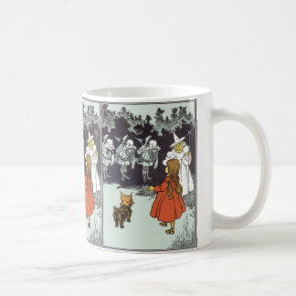 Vintage Wizard of Oz Dorothy Toto Glinda Munchkins Kaffemugg