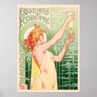 VintageAbsinthe Robette av Alphonse Mucha Poster