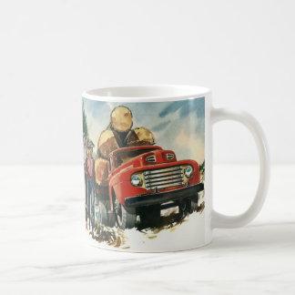 Vintageaffär som loggar lastbilen med Lumberjacks Kaffemugg