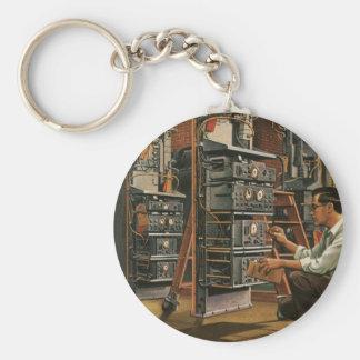 Vintageaffären radiosände rund nyckelring