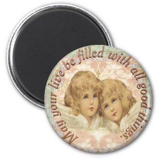 Vintagealla Cherubs bra saker Magnet