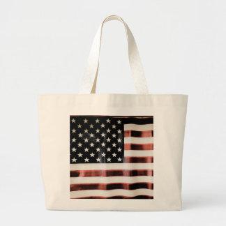 Vintageamerikanska flaggan jumbo tygkasse