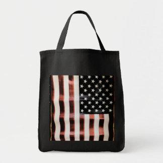 Vintageamerikanska flaggan mat tygkasse