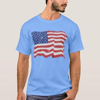 Vintageamerikanska flaggan tröja