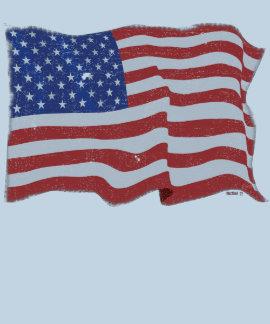 Vintageamerikanska flaggan tröjor